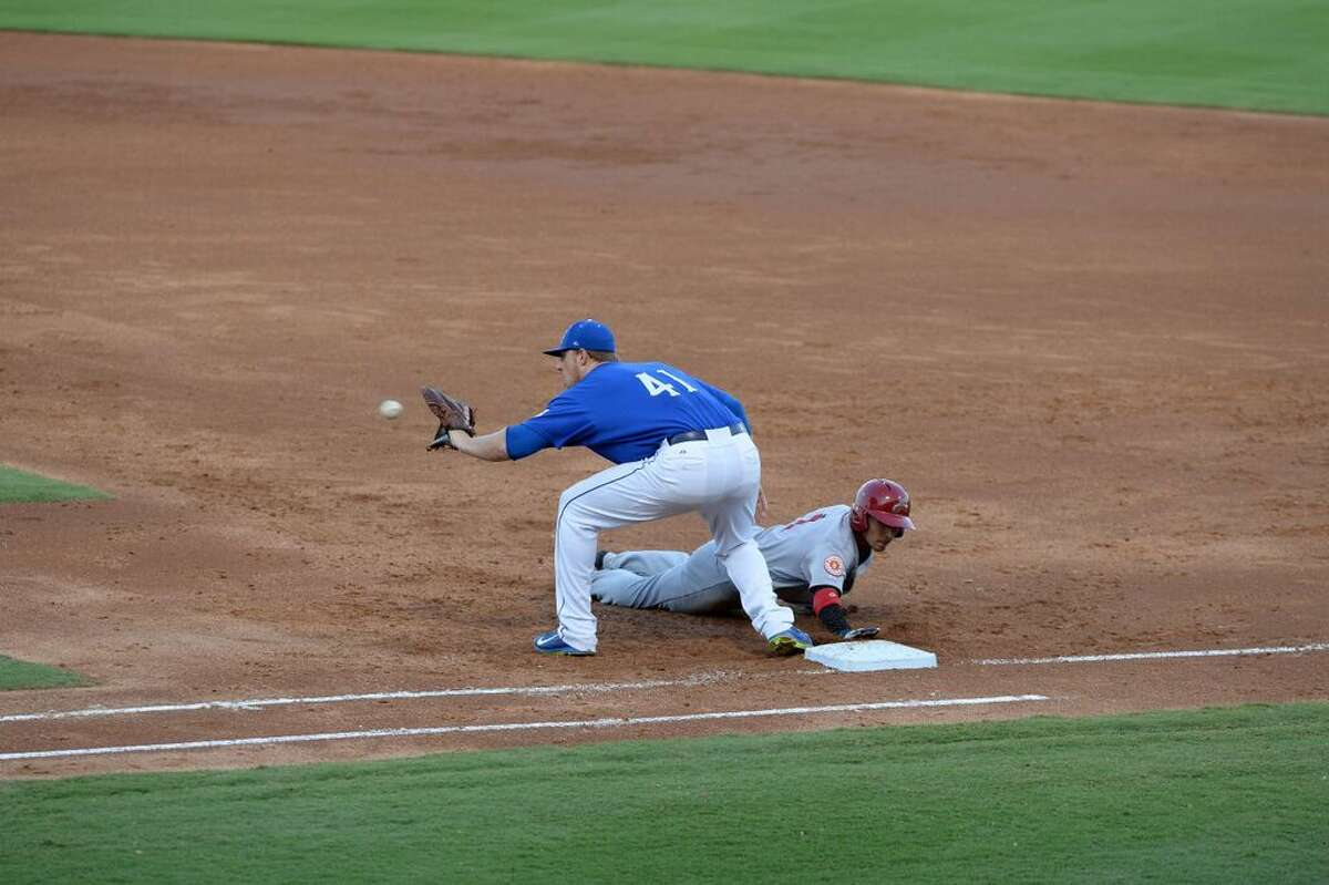 Allan Dykstra (41) doubled twice and drove in two runs as the Sugar Land Skeeters defeated Camden 3-2 on July 30 to break a six-game losing streak.