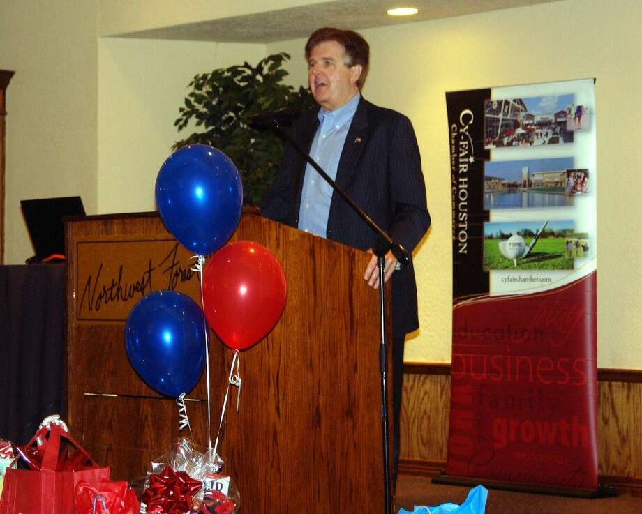 State Sen. Dan Patrick (R-District 7) speaks during the Cy-Fair Houston Chamber of Commerce membership luncheon on Aug. 19 at Northwest Forest, 12715 Telge Road, Cypress. Patrick is the Republican candidate for lieutenant governor in November's statewide general election. Photo: Roy N. Kent