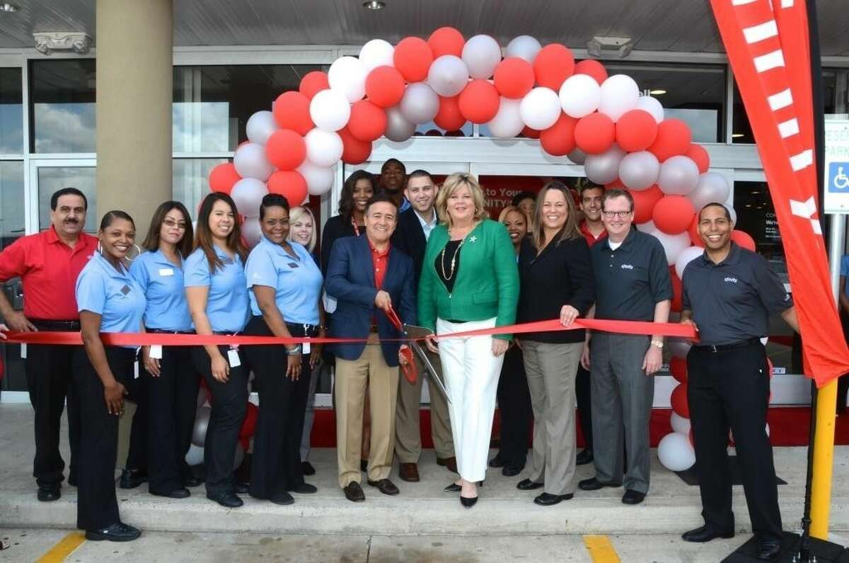 Houston City Council Member Brenda Stardig joins Comcast officials during the recent grand opening of the new XFINITY store in NW Houston.