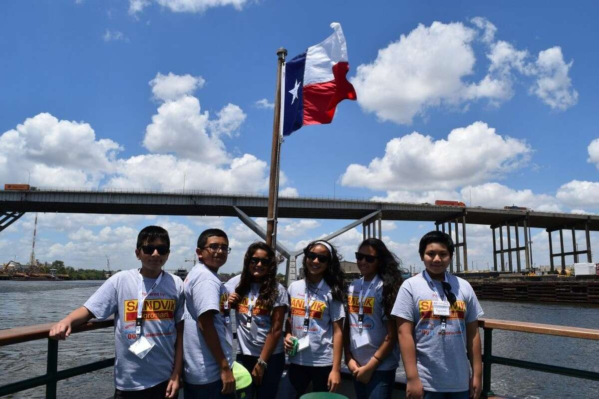 Young Manufacturers Summer Academy students enjoy a tour of the Houston Ship Channel, courtesy of the Port of Houston Authority.