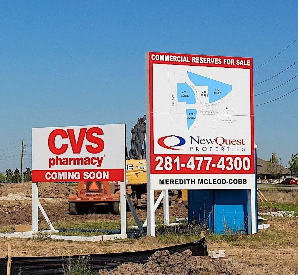 The site of the new CVS, which is slated to open in September.