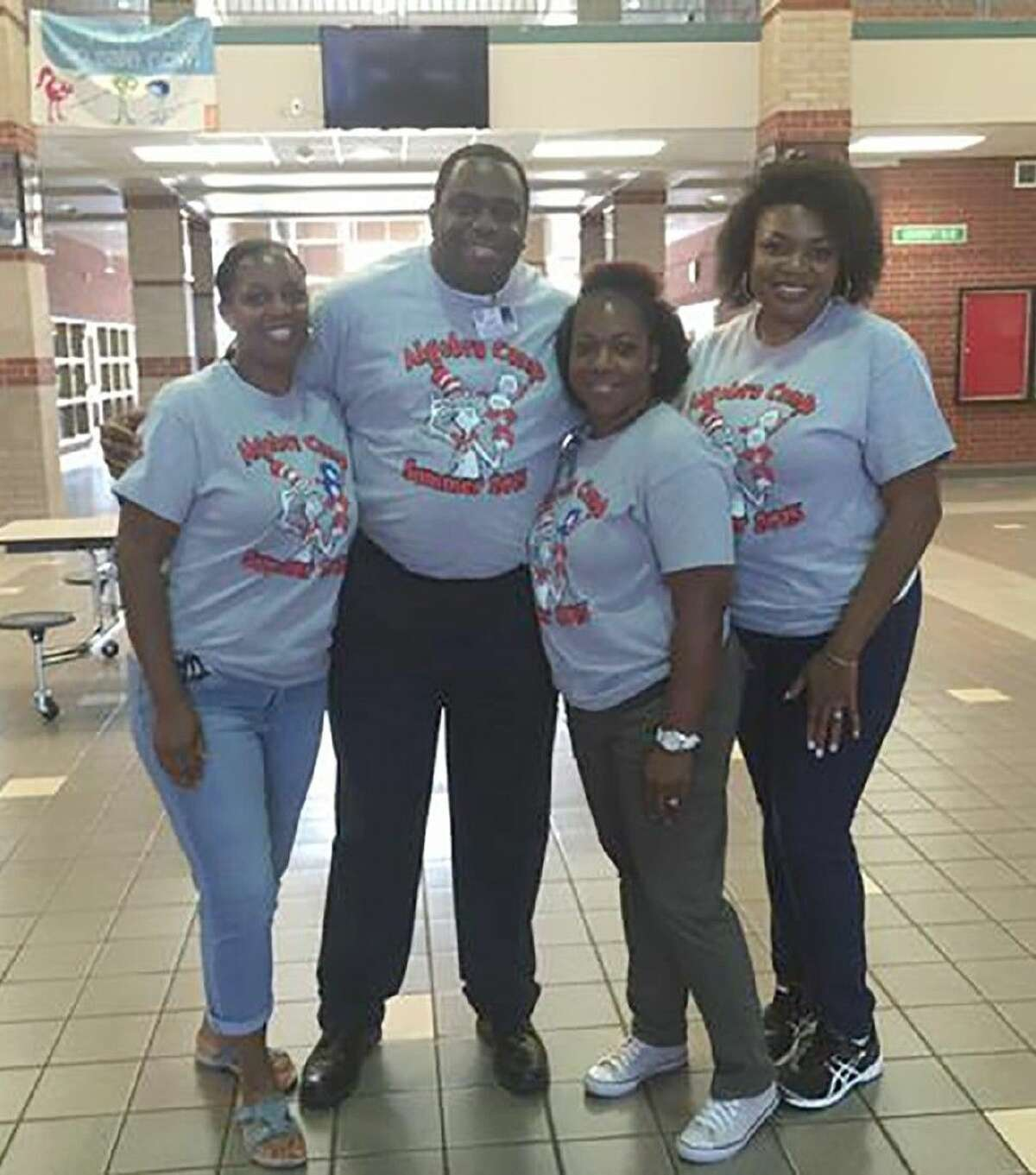 From left, Cypress Springs counselor Wanda Brown, assistant superintendent of secondary administration Travis Fanning, Cypress Springs assistant principal / camp director Colette Vallot and Cypress Springs counselor Anna Hill support the Algebra Camp at Cypress Springs High School.