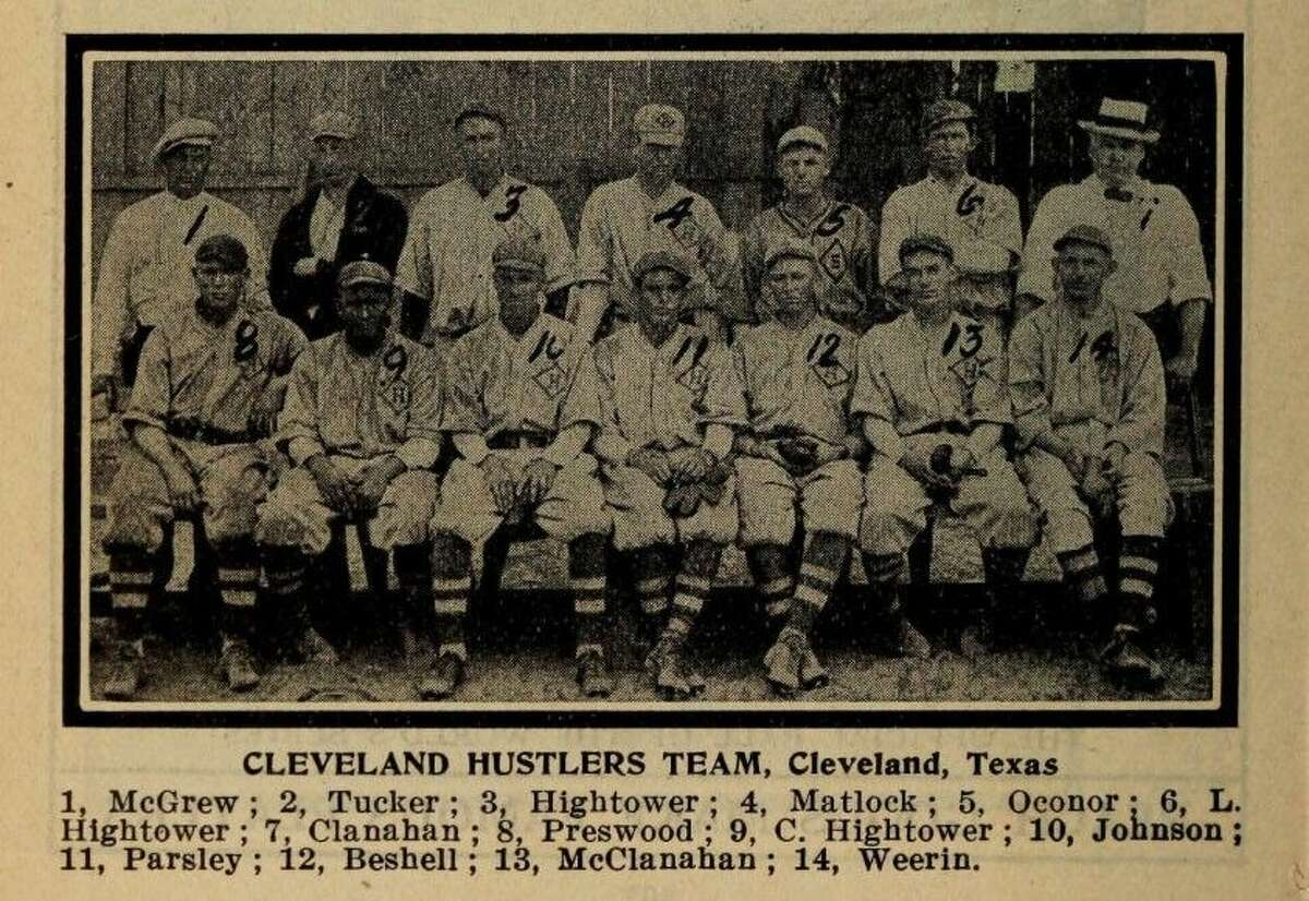 This photo of the Cleveland Hustlers appeared in the 1916 edition of The Reach Baseball Guide, a national publication.