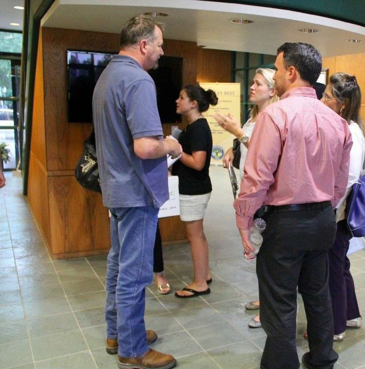 A group of residents of the Timberfield Estates subdivision shared their concerns about a nearby road expansion project with Mayor Kevin Holland and the Friendswood City Council at a meeting held Monday (July 13).