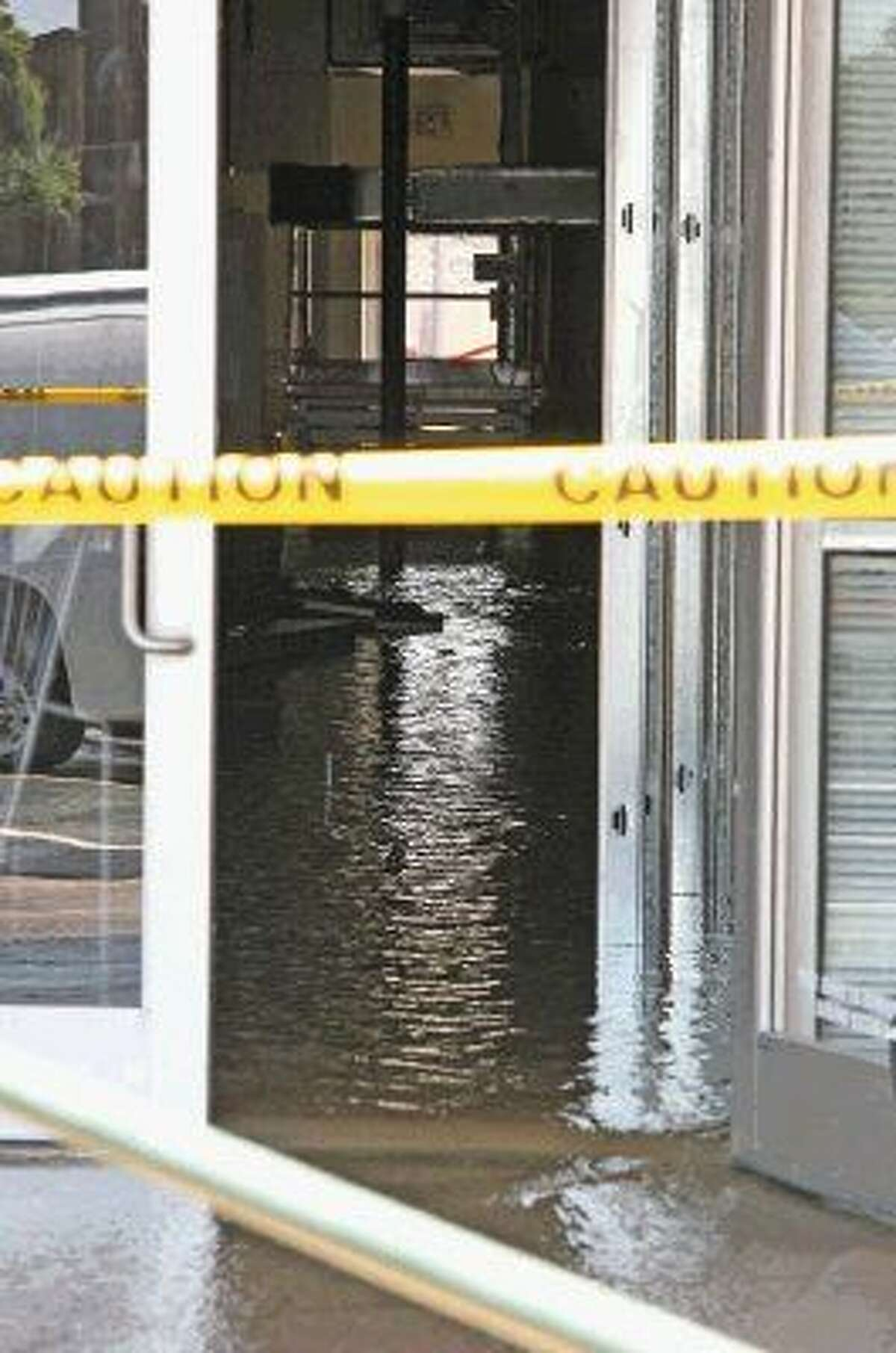 One of the vacant spaces in the strip center was closer to the break and had water just gushing out of the space and down the parking lot.