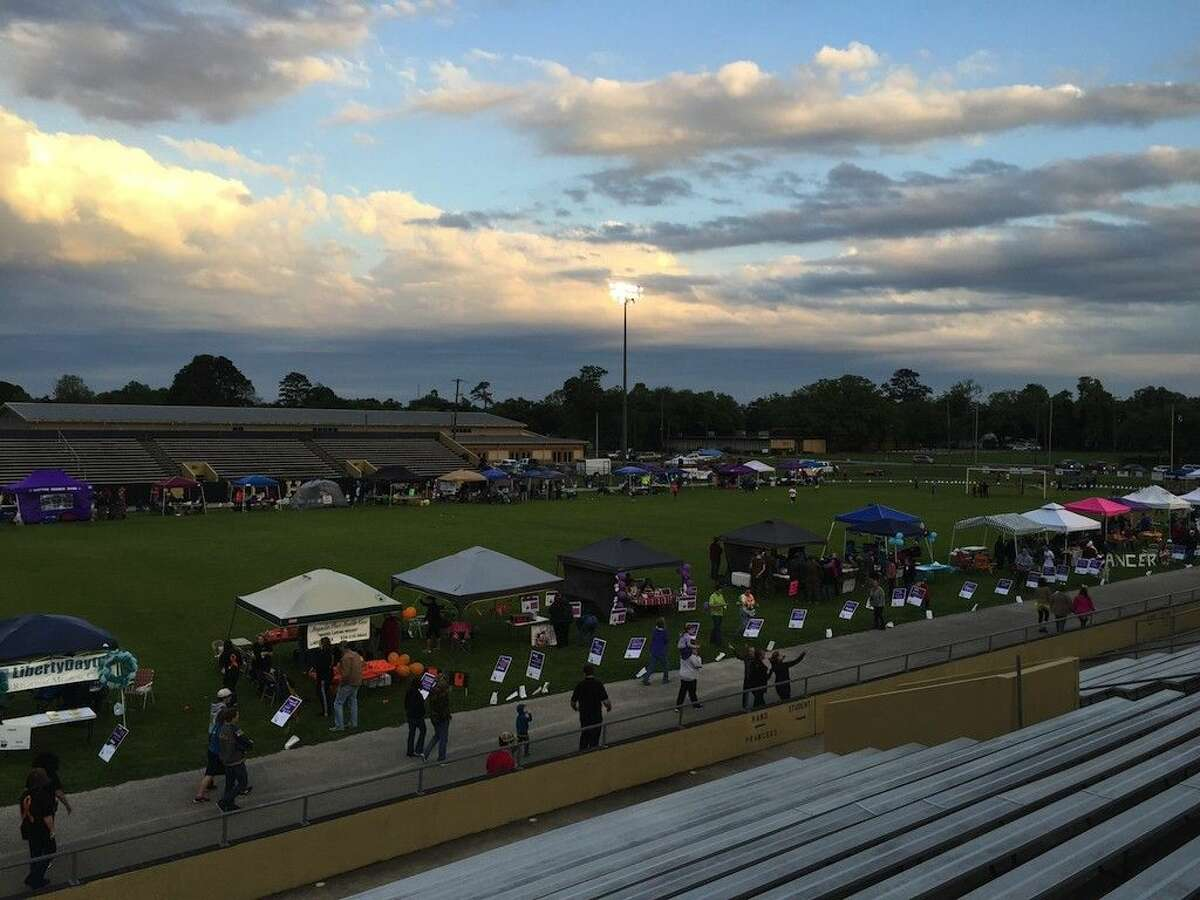 More than 400 folks participated in the South Liberty County Relay for Life held at Memorial Stadium in Liberty, Texas on April 1.