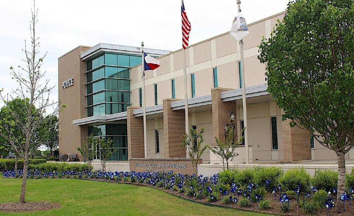 Pinwheels in front of City of Pearland offices on Cullen.