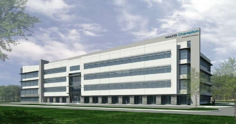A computer rendering of the new 133,000-square-foot Nalco Champion building, to be located next to the company's current facility on Highway 90A, near Imperial Road. Photo: Image Courtesy Of Ecolab
