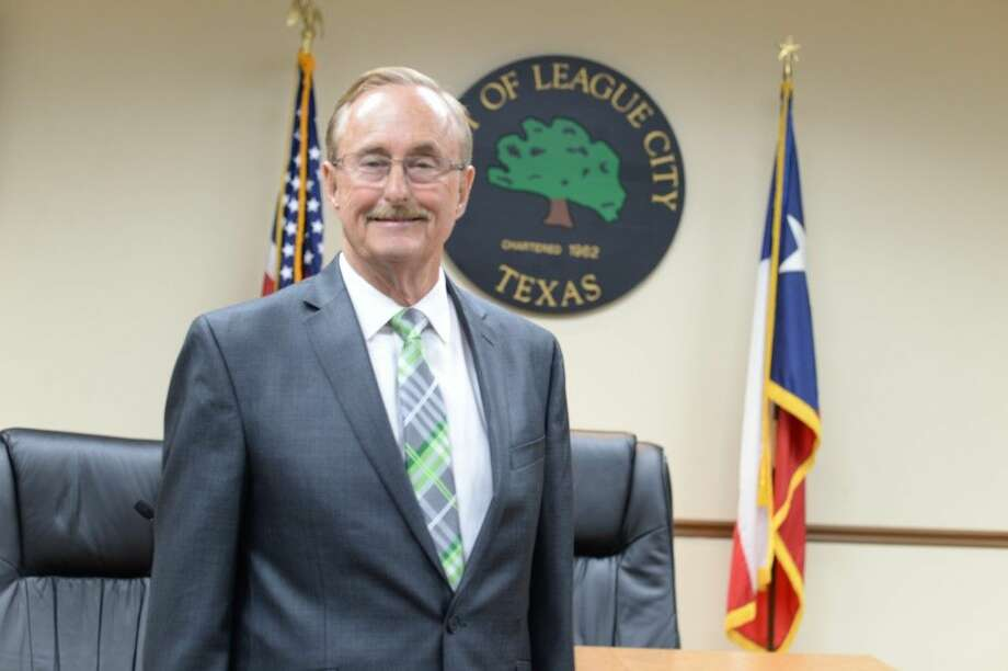 Pat Hallisey, League City mayor, had one leg amputated following a heart attack.