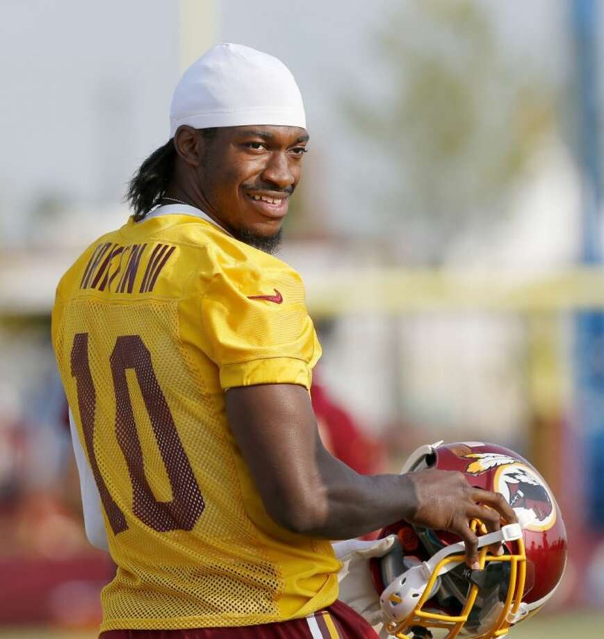 Washington quarterback Robert Griffin III during training camp on Wednesday in Richmond, Va.