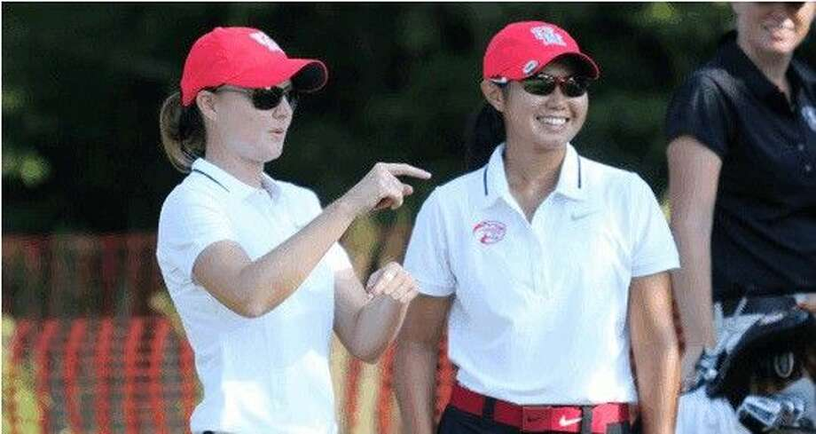 University of Houston golfer Megan Thothong (right) made a hole-in-one at a tournament in New Orleans on Sunday.