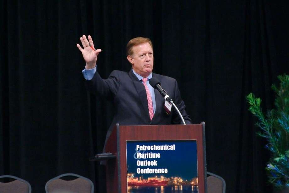 Congressman Randy Weber speaks during the Petrochemical Maritime Outlook Conference Thursday. Photo: Staff Photo By Kirk Sides