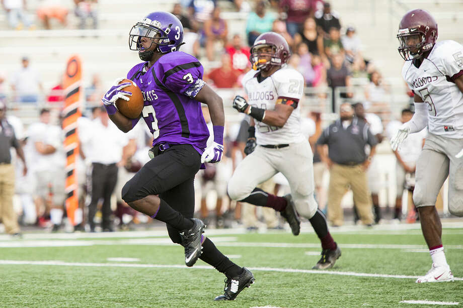 Humble running back Terio Brown leads the area with 373 yards rushing in two games. Photo: Andrew Buckley