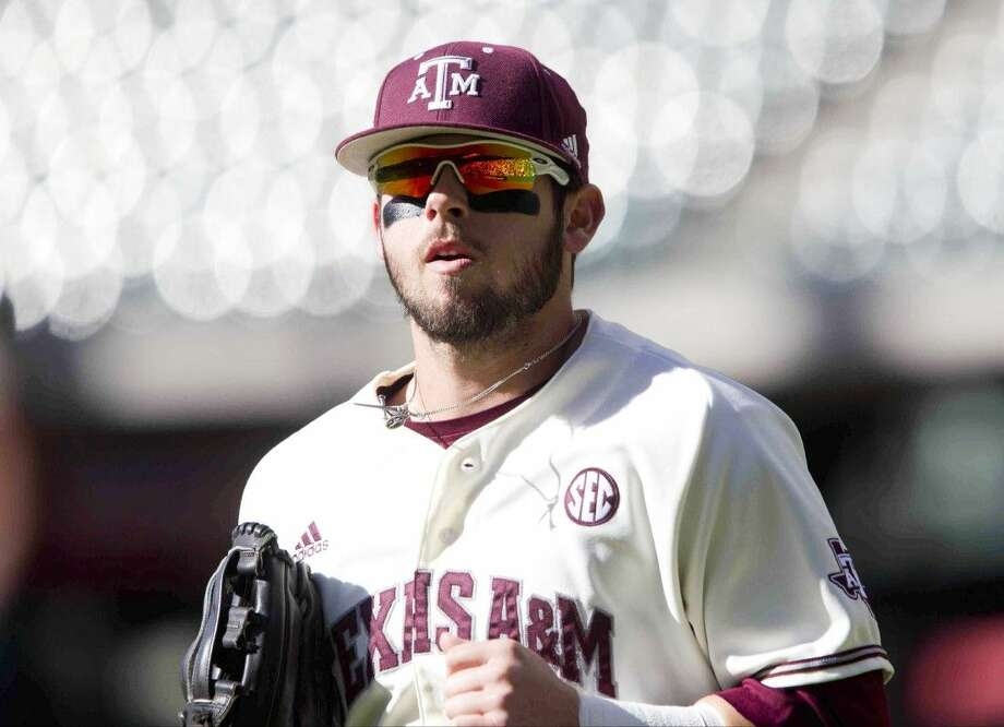 Texas A&M outfielder Nick Banks, a member of Tomball High School's 2013 UIL Class 4A State Championship team, was named SEC Player of the Week Monday, April 18, 2016 Photo: Jason Fochtman