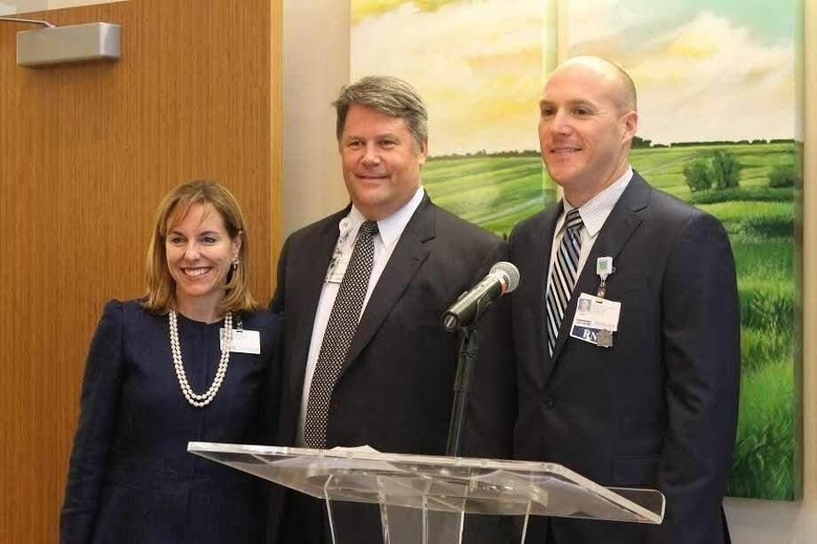 Houston Methodist The Woodlands Hospital CEO, Debbi Sukin and Methodist Willowbrook Hospital CEO, Keith Barber. Photo: Taelor Smith