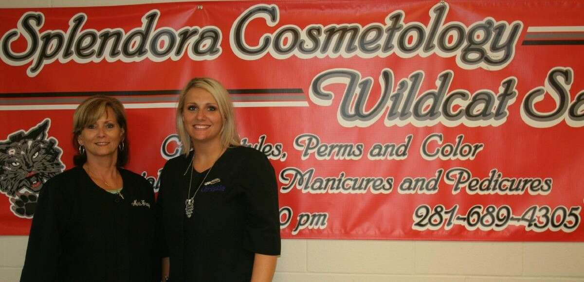 Sherryl Gray, along with daughter-in-law Christie Gray, instruct the students in the cosmetology program at Splendora ISD.