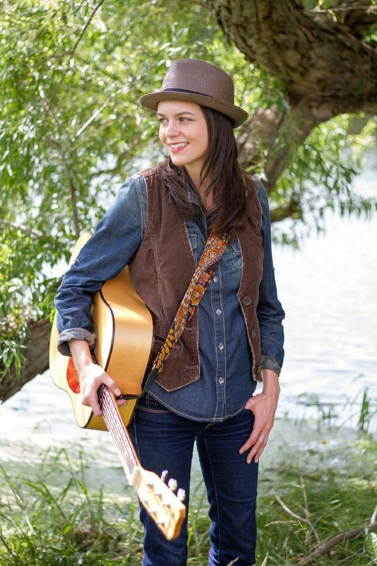 Folk rock singer Amy Goloby sings a message of hope to others.