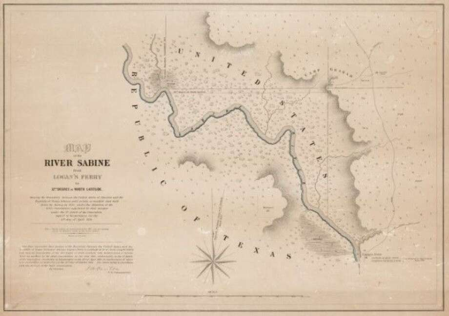 Map of the River Sabine from Logan's Ferry to 32nd degree of North Latitude Photo: Submitted