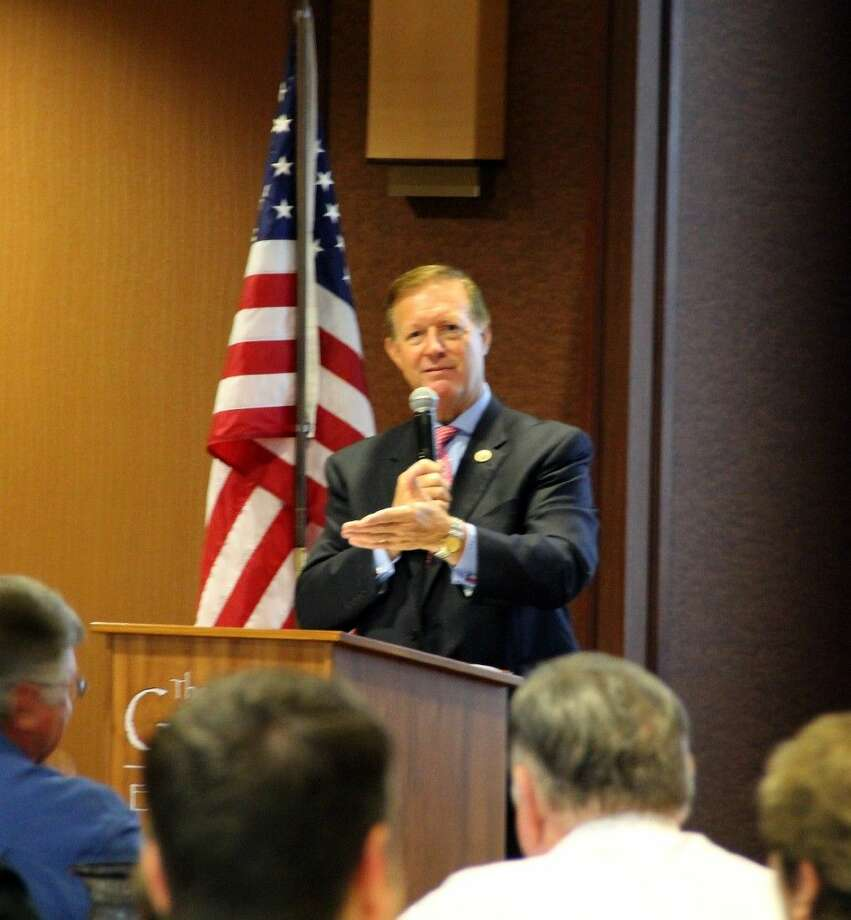 U.S. Congressman Randy Weber served as guest speaker at the Friendswood Chamber of Commerce Monthly Membership Luncheon Thursday (Sept. 4). Photo: Staff Photo By Kristi NIx