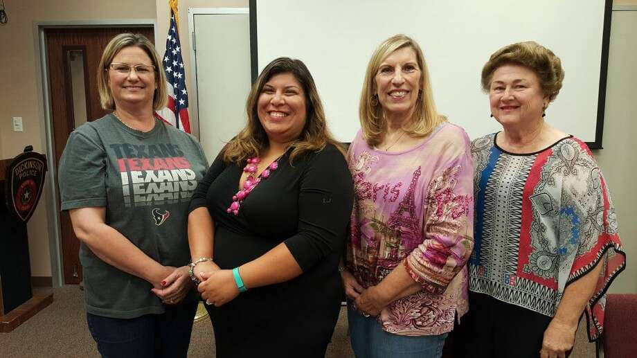 Pictured from left to right are LeeAnn Crowder (President), Amanda Rodrigues, Susan Wilcox (Installing Officer) and Sandy McDermott (sponsoring Pilot).