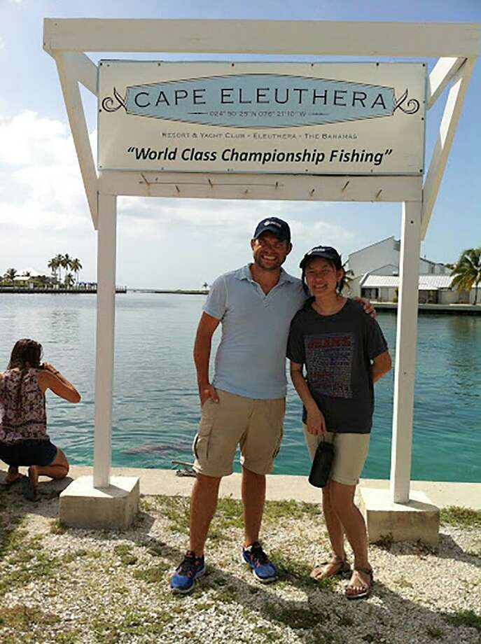 Arnold Middle School teacher Adam Schmidtendorff, left, and Cypress Creek High School freshman Elaine Pham were among a select group of JASON Argonauts who traveled to the Cape Eleuthera Institute (CEI) on the island of Eleuthera in The Bahamas in July 2015. (Photo courtesy Patrick Shea/JASON)