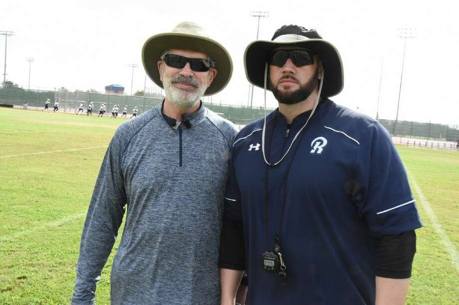 Less than five months after a liver transplant surgery that helped preserve Cypress Ridge High School Coach John McWilliams' (left) life, both he and Coach Matt Beeler are back on the practice field and ready for the 2015 season.