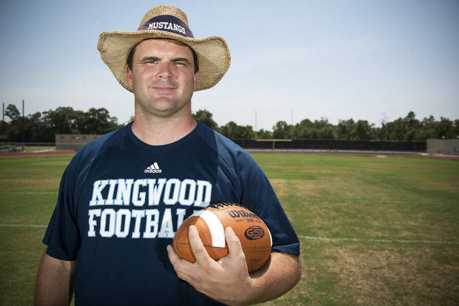 Mustangs head coach Barry Campbell poses for a portrait Aug. 11, 2015, at Kingwood High School. Photo: ANDREW BUCKLEY