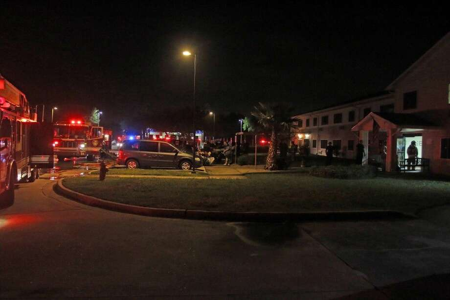 Residents were taken outside after a fire broke out at the Paul Chase Commons. Photo: Kar B Hlava
