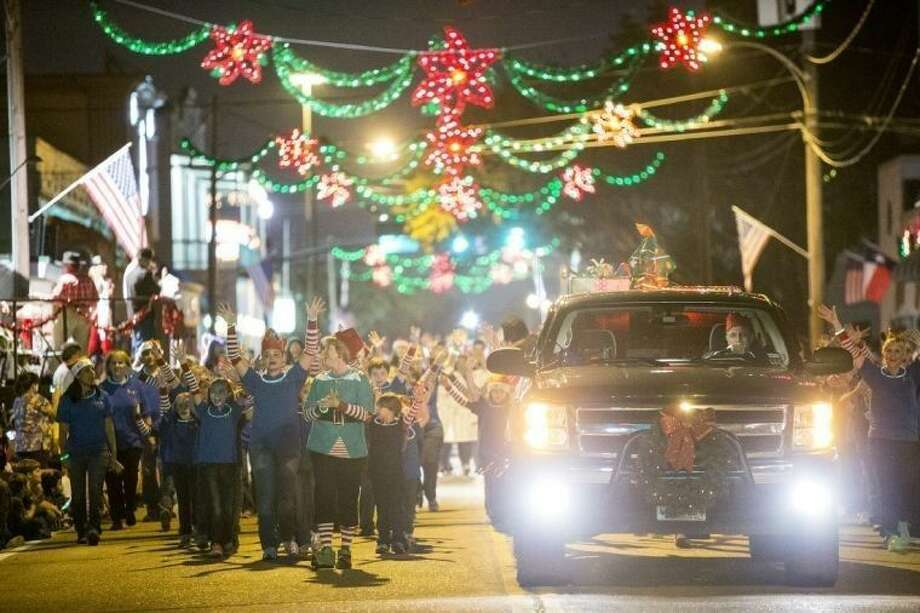 A past photo of the city of Humble's annual Christmas Parade as it rolls down Main Street.