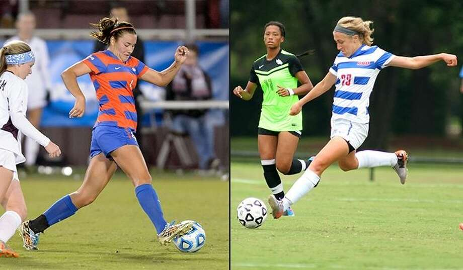 Houston Baptist University junior defender Kristi O'Brien and senior defender/midfielder Blake Martin were voted to the Preseason All-Southland Conference team. Photo: HBU Athletics