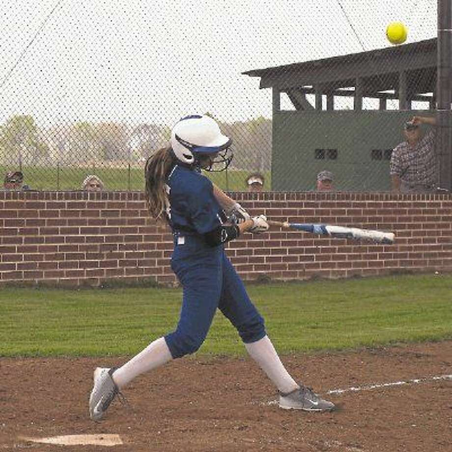 Shayla Fisher, shown here during a game earlier this season, hit a home run on Saturday, April 16, against Deweyville. Hardin won by 12-1 over Deweyville and lead the district with 11 wins and one loss. The Lady Hornets play Thursday, April 21, against Anahuac at Jasper then wrap up their regular season on Friday playing Kirbyville. Photo: Casey Stinnett