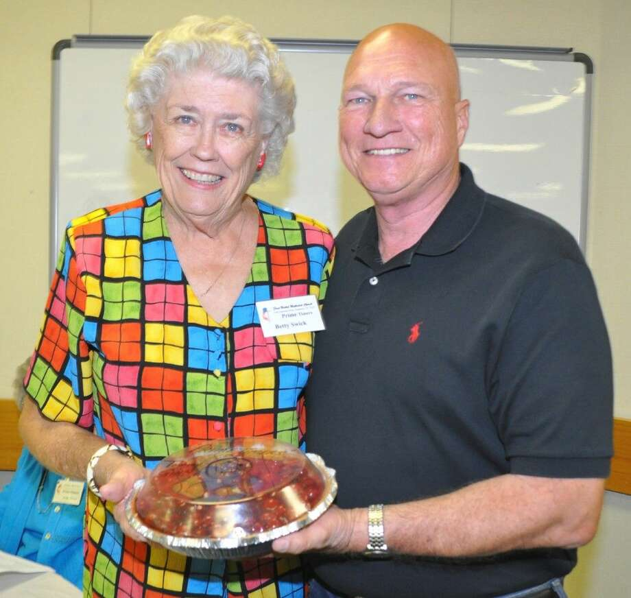Betty Swick was the winner of Deer Park Councilman Tommy Ginn's famous cherry cheesecake. A generous donor of cheesecakes and other delicious pastries for the Prime Timers and other benefits, Councilman Ginn has baked and donated over 800 delicacies in the past decade.