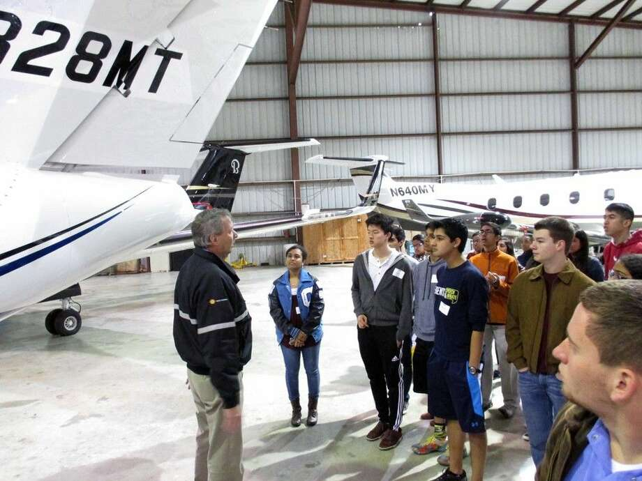 Participants in the MYAC program get to tour many city facilities, such as the Sugar Land Regional Airport, during the session that runs throughout the 2015-'16 school year.