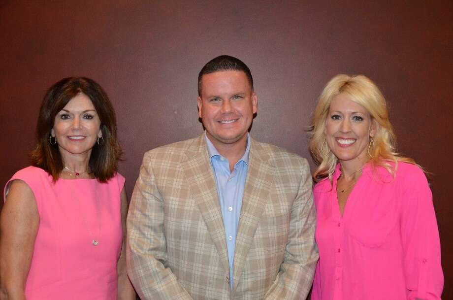 Submitted photoIn the Pink of Health co-chairs Melissa Preston and Carrie Hyman pictured with Richie Ray of Richie's Specialty Pharmacy, the presenting sponsor of the luncheon.