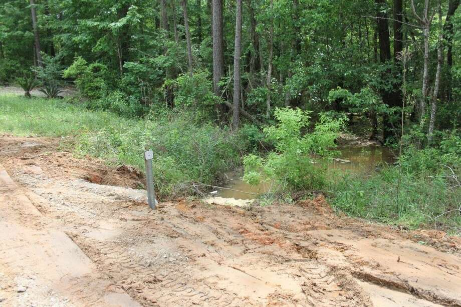 A culvert on the Horseshoe Way Loop received damage during the flood waters on April 18. This portion of the street was temporarily closed until it could be fixed. Photo: Jacob McAdams