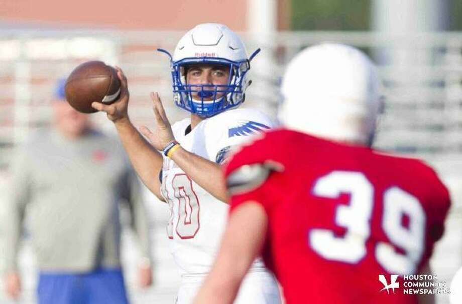 Oak Ridge quarterback Braden Letney drops back to pass under pressure during a spring game at Woodforest Bank Stadium Tuesday. To view or purchase this photo and others like it, visit HCNpics.com Photo: Jason Fochtman