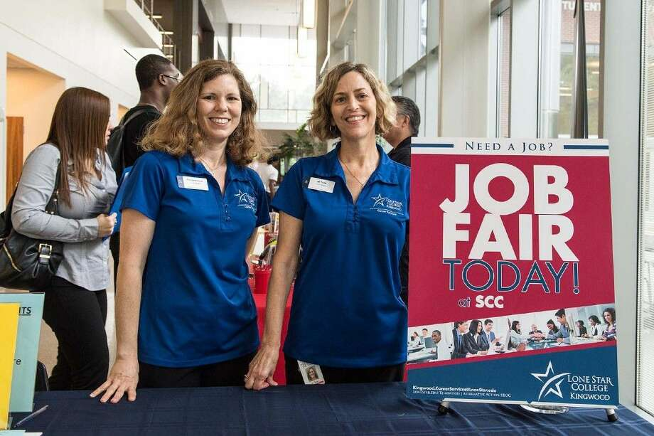Jill Todd, right, and Kim Hammond, with LSC-Kingwood's Career Services department, invite local businesses to host a booth at Job Connections Day on Thursday, Sept. 3, 12-2 p.m., in LSC-Kingwood's Student-Conference Center. For more information or to register, call 281-312-1624 or email Kingwood.CareerServices@LoneStar.edu.