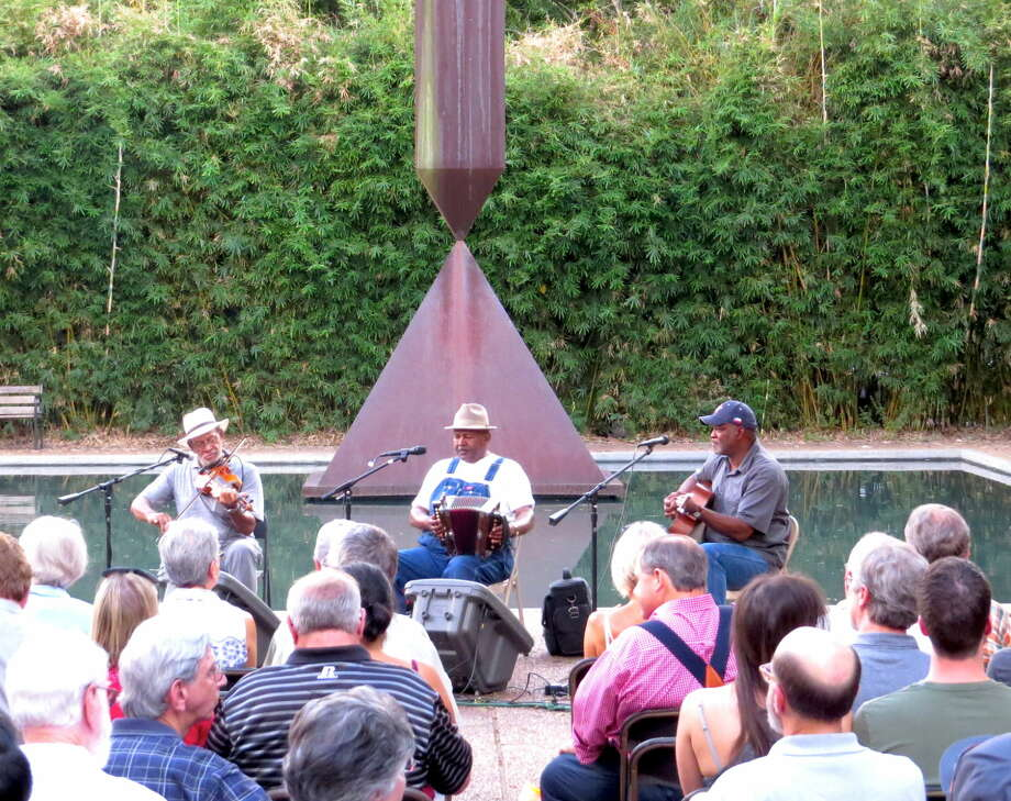 Creole legend Ed Poullard took the stage on Thursday, Aug. 13, and the crowd enjoyed the sounds of accordion and fiddle from blankets out on the Chapel's plaza.