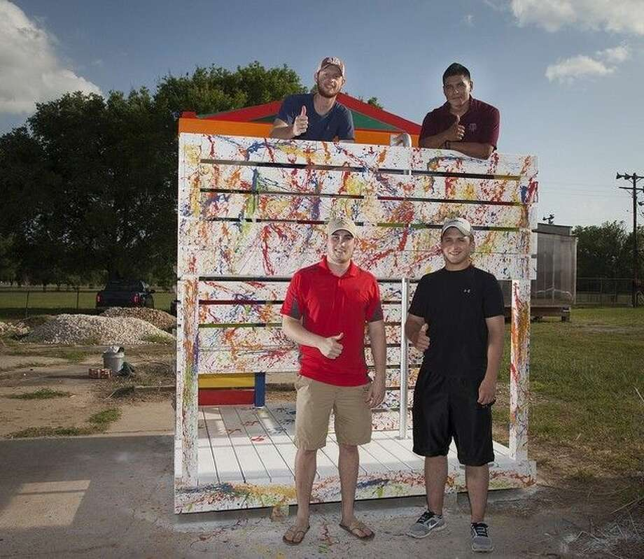 Photo submittedThis playhouse, constructed and donated by students from the Texas A&M University College of Architecture, will be auctioned off at an event Saturday, Sept. 13, at The Woodlands Mall. Photo: Submitted