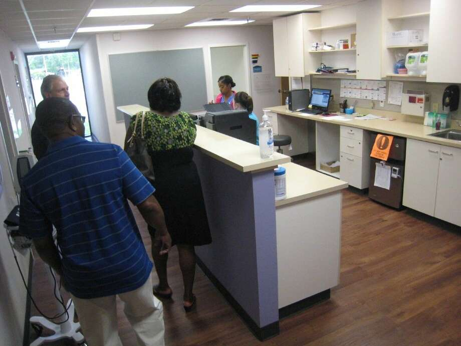 Community members were invited to tour the new Calvary Urgent Care in Humble Thursday, April 21, 2016.