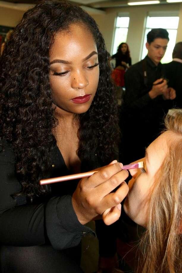 Brianna Foster, Lewis CTHS senior, and Franzi Ahres, fashion model.
