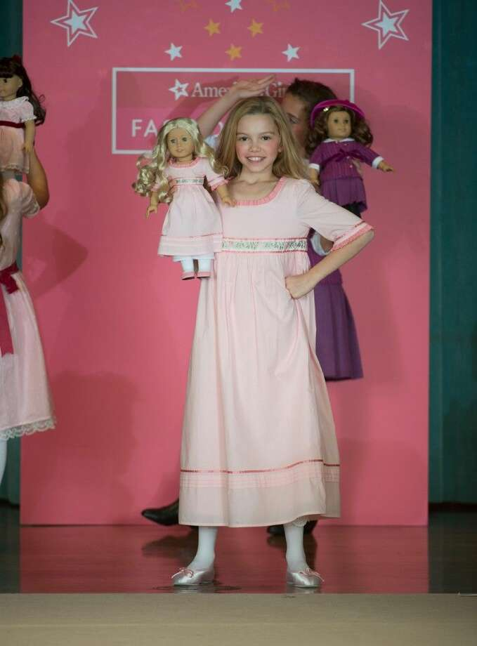 Claire Friend of Cypress models in the American Girl Fashion Show. HITS Theatre hosts the annual American Girl Fashion Show at the Junior League on Nov. 14 and 15. Photo: Kevin B Long