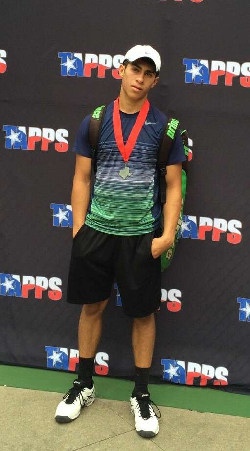 Northland tennis player, senior Daniel Navid, after his performance in the TAPPS 4A Tennis State Championships. Head coach Elizabeth Bohannon says that, with the help of Navid's influence, the tennis program has flourished in recent years. Photo: Elizabeth Bohannon