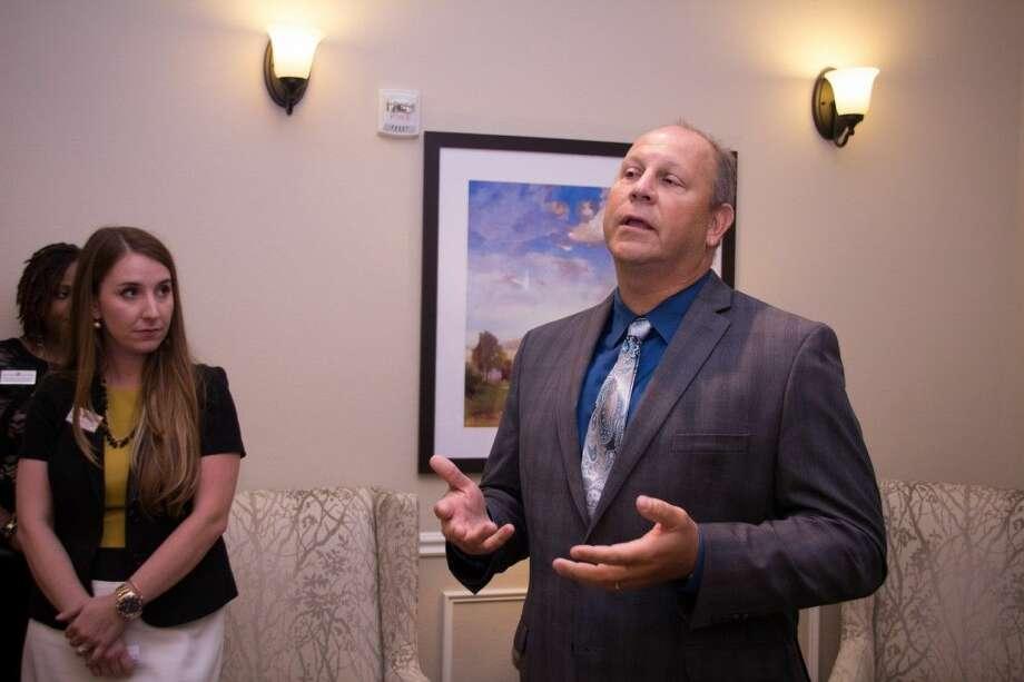 Taryn Jasmon (left) and Joe Jasmon (right) at the West Houston Autumn Leaves one-year anniversary. Photo: Samantha Mauney