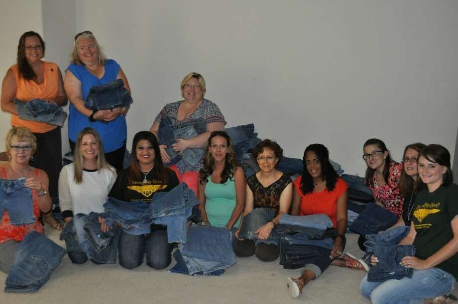 Women on a Mission to Earn a Commission (WOAMTEC) of Magnolia, recently donated 689 pairs of jeans to Heaven's Army of Resources to help students prepare for Back to School.