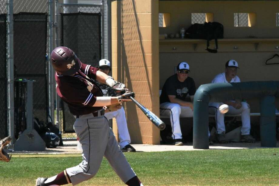 Magnolia West first basemen Wyatt Albert reached base three times during a 15-2 victory over Tomball Memorial Saturday April 23, 2016. Photo: Tony Gaines