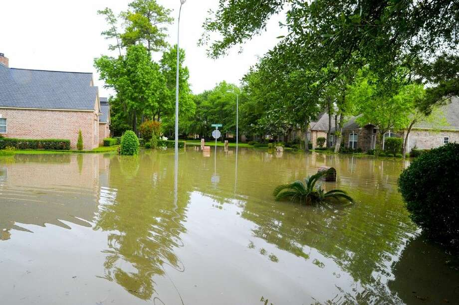 The Cypresswood area was hit hard by flooding from Cypress Creek on Monday and Tuesday. Area residents are still under water. Photo: Tony Gaines