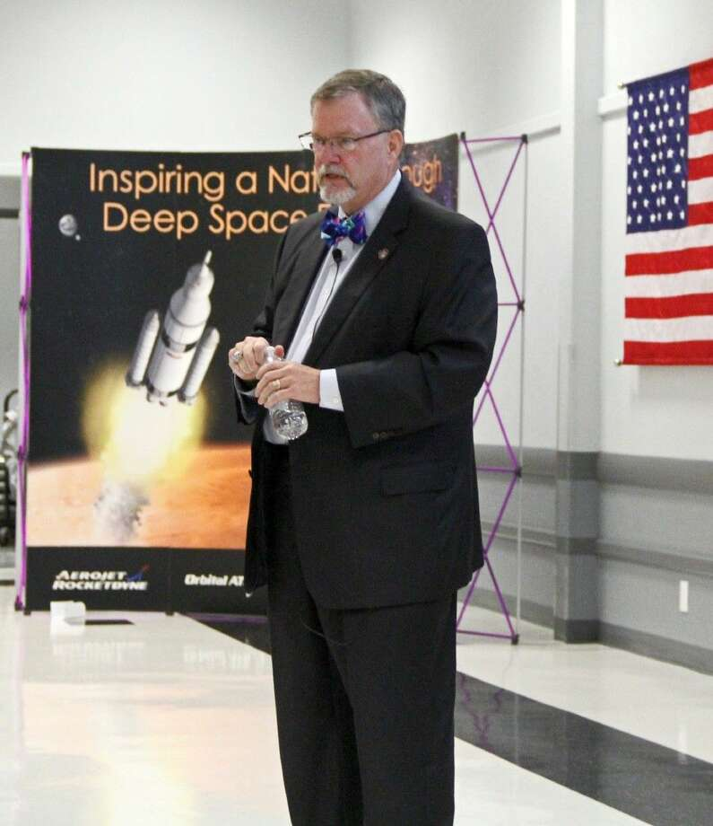 Dr. Michael Hawes, Vice President and Orion Program Manager for Lockheed Martin Space Systems Company Photo: Kristi Nix
