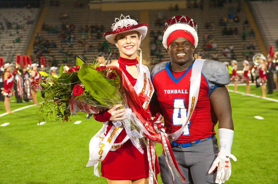 Morgan Koteras is your 2014 Tomball High School Homecoming Queen! Percy Alford is King. Photo: Tony Gaines