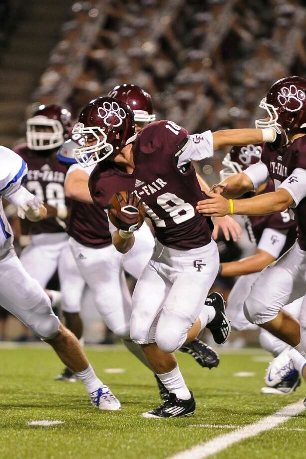 Maxx Chrest had two interceptions for Cy-Fair in he Bobcats' 27-0 win over Cy Creek on Friday at the Berry Center. Photo: Mark Goodman/FILE PHOTO